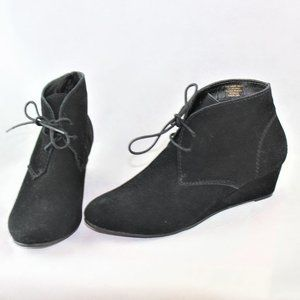 Crown Vintage suede Short Wave Wedge Boots